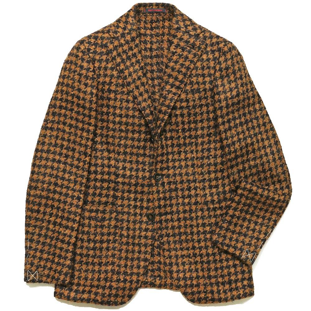 【40%OFF】THE GIGI(ザ ジジ)DEGAS モヘヤウールナイロンシルク ブークレ ハウンドトゥース シングル3Bジャケット