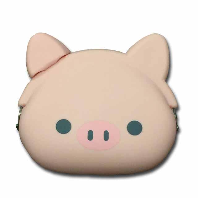 メール便対応 小物入れにも使えます 購買 シリコンがま口 mimi POCHIGMC502 豚 ブーぶた コインケース 小銭入れ 売却 ☆☆☆☆
