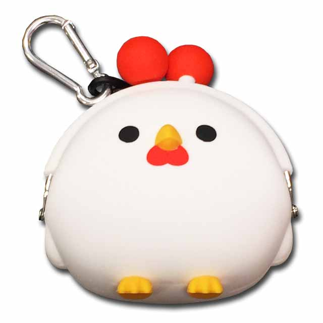 小物入れにも使えます シリコンがま口 mimi POCHIGMC607 コケコッコニワトリ 鶏 ☆☆☆☆ 海外限定 コインケース ファッション通販 にわとり 小銭入れ