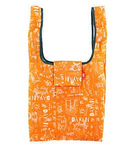メール便OK 限定モデル わちふぃーるど 猫のダヤンエコネコダヤンバッグ撥水ロール ブログ オリジナル オレンジエコバッグ お買い物袋 ダヤン ☆☆☆☆