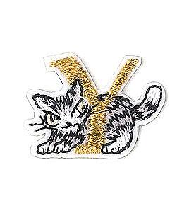 メール便OK わちふぃーるど 猫のダヤン ついに入荷 早割クーポン アップリケ刺繍ステッカーダヤン ねこ ☆☆☆☆ Yネコ 雑貨