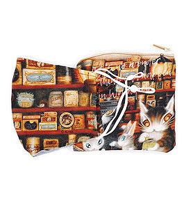 わちふぃーるど 秀逸 猫のダヤンマスク 本物 ポーチセットグロッサリーマスク ダヤン 雑貨 ☆☆☆☆ ねこグッズ