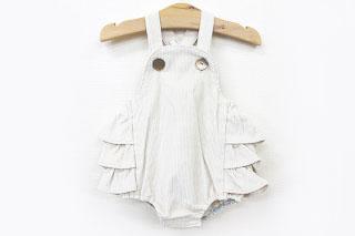 ○2019秋冬商品【mimi poupons/ミミプポン】【FS-05051】フリルサロペット(Baby ONE/70-80cm)