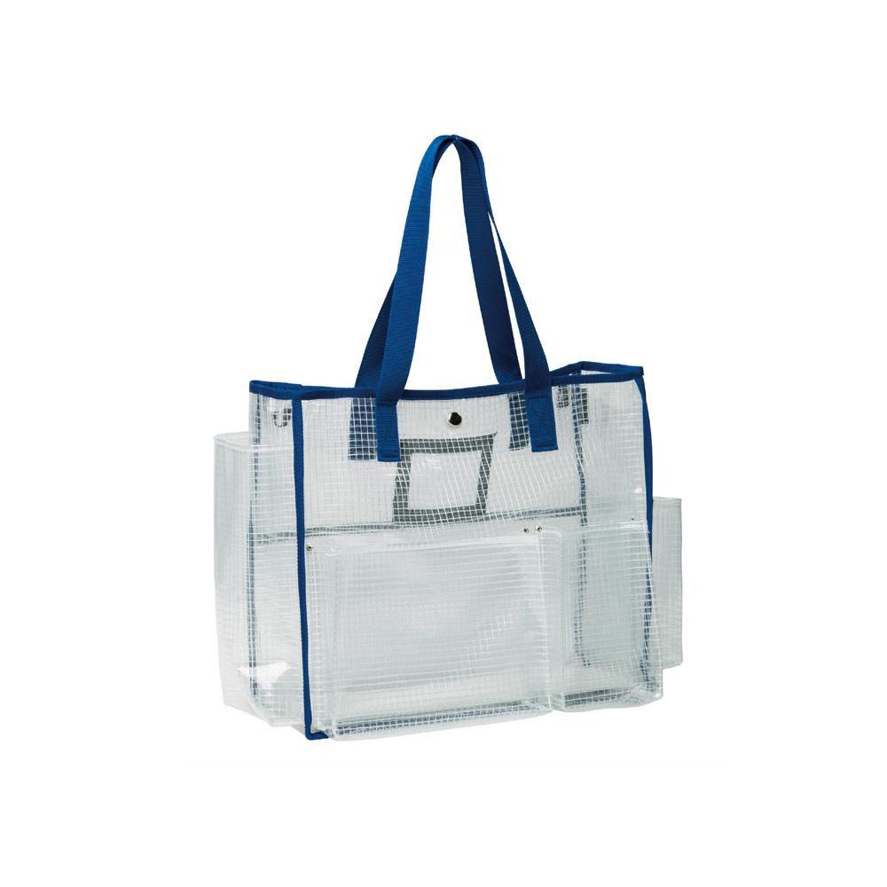 清掃小物をスマートに運べるトートバッグ ネコポス不可 テラモト BMトートバッグS 透明タイプ キャンセル A 返品不可 海外限定 ディスカウント DS-233-205-3 ブルー