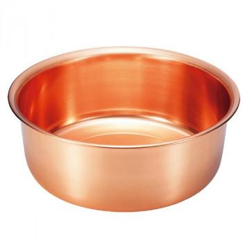 銅製の洗い桶です。 【ネコポス不可】COPPER100 純銅 洗い桶30cm S-9360S【A】【キャンセル・返品不可】
