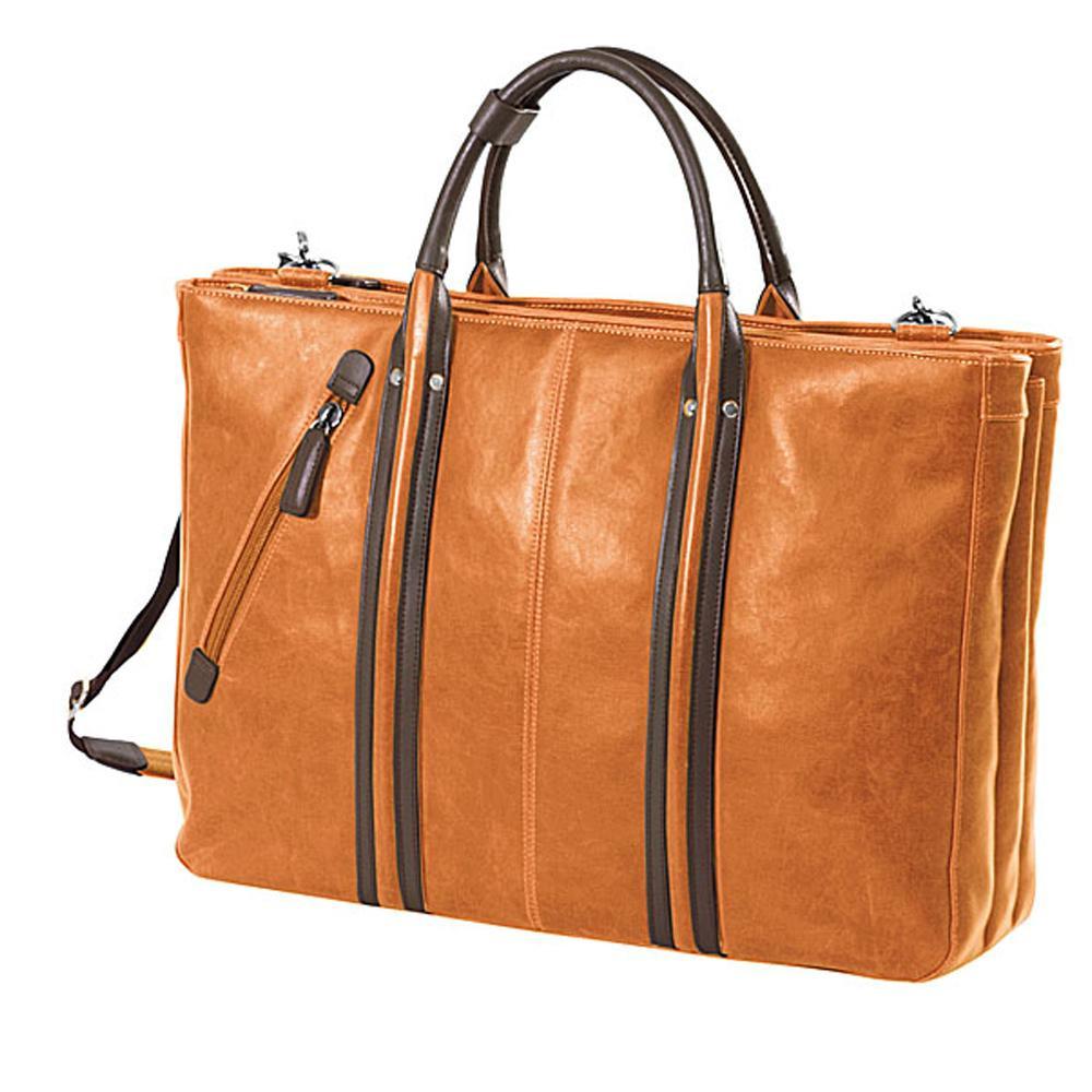 おしゃれなトートバッグです ネコポス不可 BAGGEX 現品 ヴィンテージ ビジトート三層 23-5459 オレンジ A 国内送料無料 返品不可 キャンセル