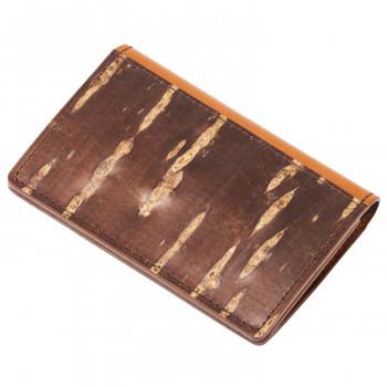 山桜の樹皮と牛本革を重ねた名刺入れです ネコポス不可 重皮 名刺入れ 定番スタイル 評判 こうよう 16409 返品不可 A キャンセル