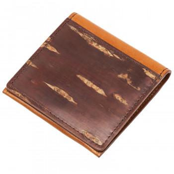 山桜の樹皮と牛本革を重ねた小銭入れです セール ネコポス不可 重皮 小銭入れ こうよう 返品不可 16609 OUTLET SALE キャンセル A