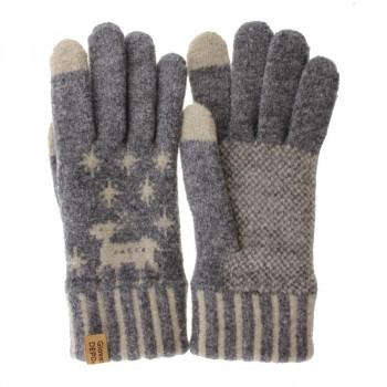 タッチパネル対応の手袋 卸直営 100円OFFクーポン 3 11 プレゼント 1:59まで ネコポス不可 フクシン プレミアムシュークリーム手袋 キャンセル 星柄 211-06 A グレー レディース 返品不可
