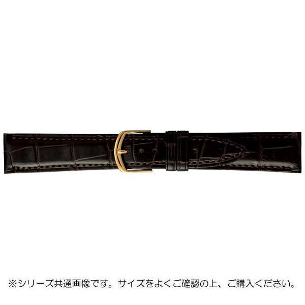 【ネコポス不可】BAMBI バンビ 時計バンド グレーシャス ワニ革 チョコ(美錠:金) BWA019BP【A】【キャンセル・返品不可】