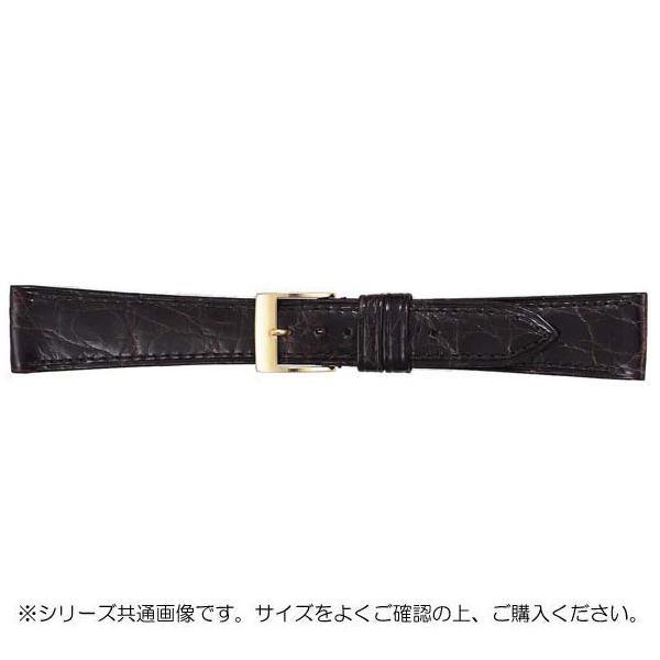 時計ベルトの交換に ネコポス不可 BAMBI バンビ 時計バンド グレーシャス ワニ革 キャンセル 新品 BWA112BN A 美錠:金 直送商品 返品不可 チョコ