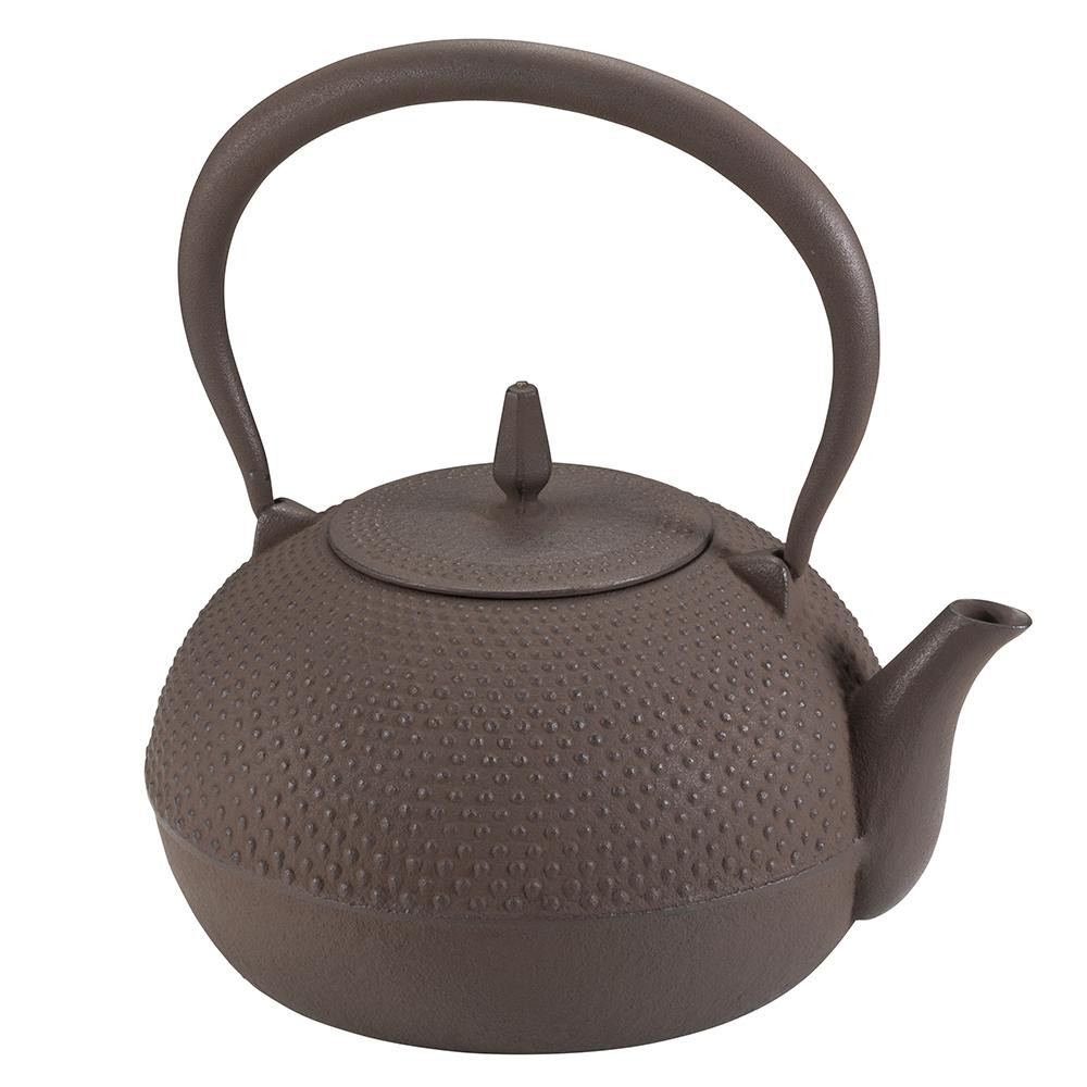 【ネコポス不可】鉄瓶 梔子 小 茶【A】【キャンセル・返品不可】