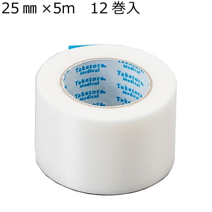 【ネコポス不可】竹虎 パテンバン サージカルテープ No.25 25mm×5m 12巻入 060092【A】【キャンセル・返品不可】