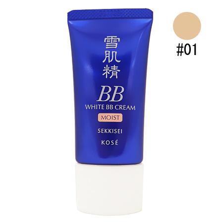 コーセー 雪肌精 ホワイト BBクリーム モイスト #01 やや明るい自然な肌色 30g