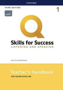 Q: Skills for Success 3/E: Listening and Speaking Level 1 Teacher Guide with Teacher Resource Access Code Card