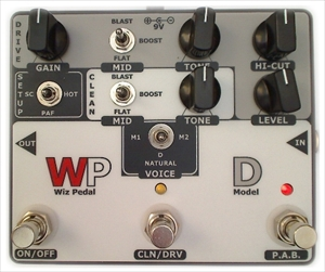 【WIZ-PEDAL】Wiz Electronics/エフェクター/MODEL-D D-SYLE PREAMP/OVERDRIVE/WIZPEDAL-D