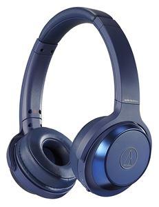 【SOLID BASS】audio-technica/Bluetooth対応ワイヤレスヘッドホン/ATH-WS330BT BL