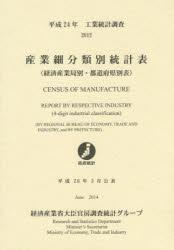 産業細分類別統計表 経済産業局別・都道府県別表 平成24年 工業統計調査
