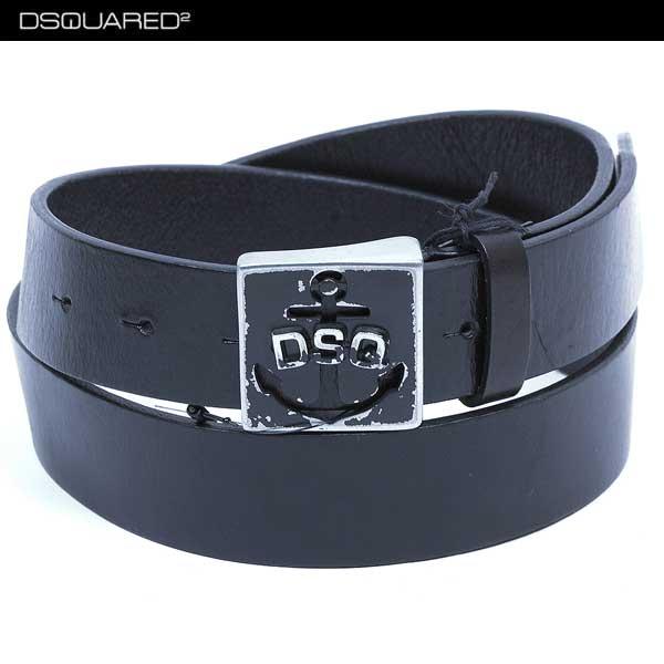 ディースクエアード DSQUARED2 メンズ ブランドロゴ バックル ベルト BE4008 V363 20 ブラック 黒 13S【送料無料】【smtb-TK】