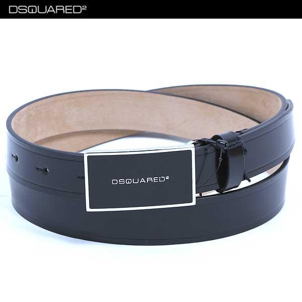 ディースクエアード DSQUARED2 メンズ ブランド ロゴ バックル ベルト ブラック BE4058 V015 20 13S (R30450)【送料無料】【smtb-TK】