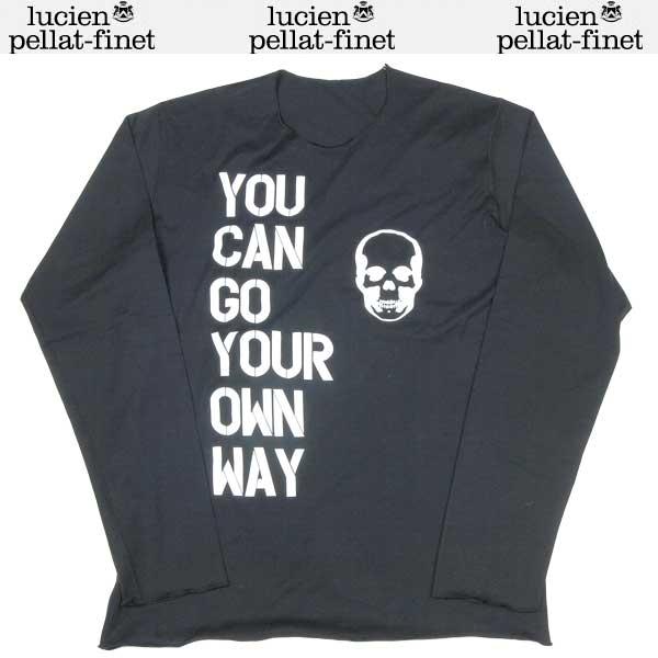 ルシアンペラフィネ lucien pellat-finet メンズ スカル ロング Tシャツ 長袖 ブラック EVH1092 BLACK/WHITE 13S【送料無料】【smtb-TK】