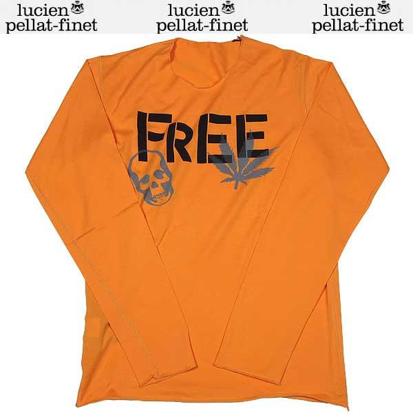 ルシアンペラフィネ lucien pellat-finet メンズ スカル ヘンプ ロング Tシャツ EVH1089 SEA BUCKTHORN オレンジ 13S【送料無料】【smtb-TK】
