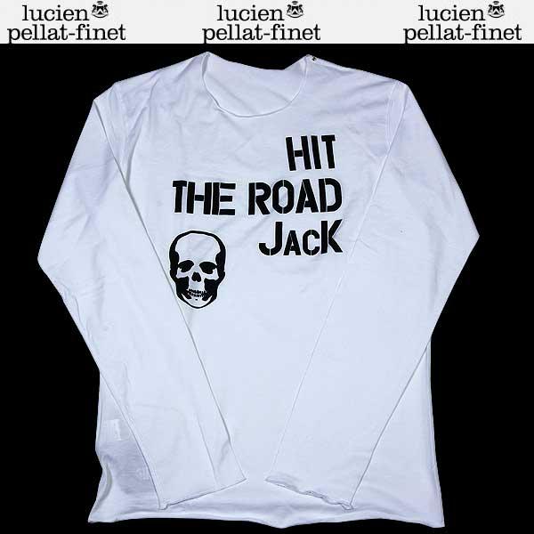 ルシアンペラフィネ lucien pellat-finet メンズ スカル ロング Tシャツ 色違いブラック・グレーあり ホワイト EVH1107 WHITE/BLACK 13S (R60900)【送料無料】【smtb-TK】