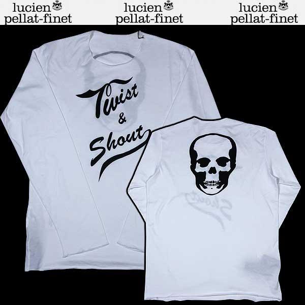 【送料無料】 ルシアンペラフィネ(lucien pellat-finet) メンズ スカル ロングTシャツ EVH1101 WHITE/BLACK ホワイト(白) 13S【smtb-TK】