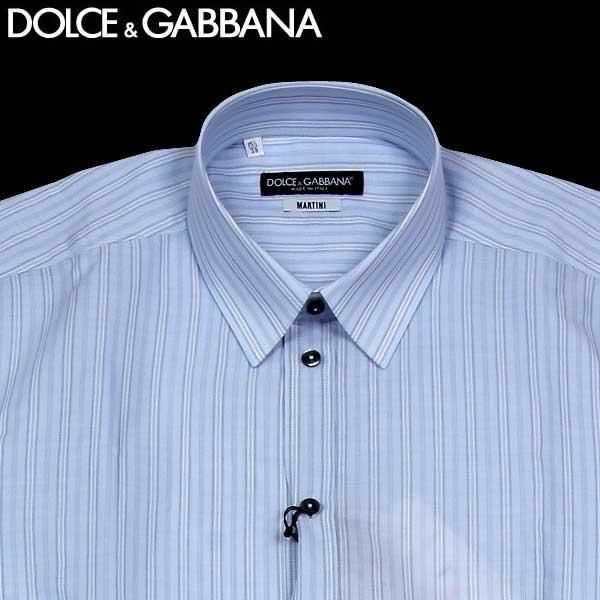 ドルチェ&ガッバーナ DOLCE&GABBANA メンズ MARTINI ストライプ ワイシャツ ライトブルー G5BB1T FB5KN S8051 13S【送料無料】【smtb-TK】