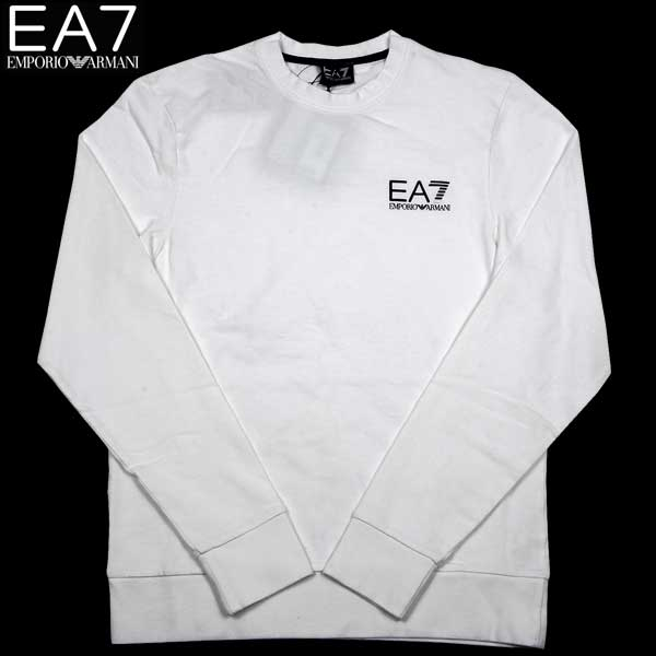 エンポリオアルマーニ EMPORIO-ARMANI メンズ EA7 クルーネック ロング Tシャツ 長袖 ホワイト 274138 3P231 00010 13S【送料無料】【smtb-TK】