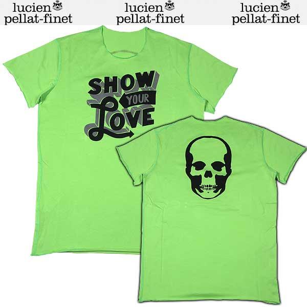 【送料無料】 ルシアンペラフィネ(lucien pellat-finet) メンズ スカル 半袖 Tシャツ グリーン EVH1122 13S