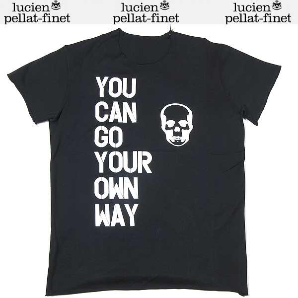 【送料無料】 ルシアンペラフィネ(lucien pellat-finet) メンズ スカル 半袖 Tシャツ ブラック EVH1095 13S