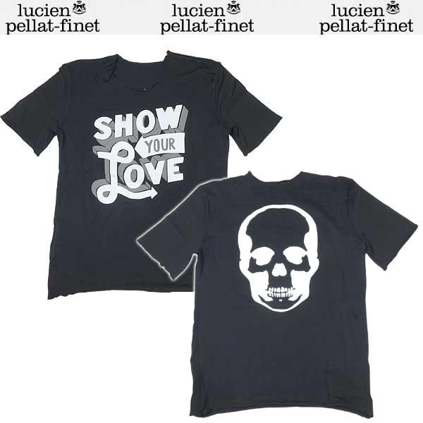 ルシアンペラフィネ lucien pellat-finet レディース スカル プリント 半袖 Tシャツ ブラック EVF1265 13S (R75600)【送料無料】【smtb-TK】