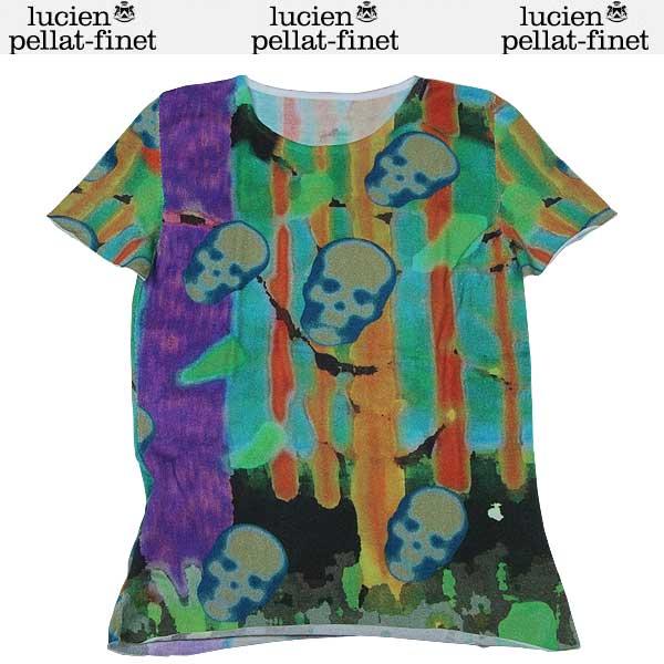 ルシアンペラフィネ lucien pellat-finet レディース カラフル スカル 半袖 Tシャツ AT1596F 13S【送料無料】【smtb-TK】