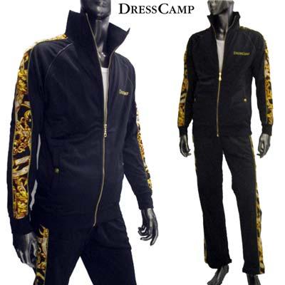 ドレスキャンプ DRESS CAMP メンズ バロック調 ジャージセットアップ 上下組 派手 柄物 唐草 上下セット バロッコ 黒ブラック 42-D2703002 09 13S dress camp【送料無料】【smtb-TK】