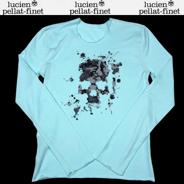 ルシアンペラフィネ lucien pellat-finet レディース カモフラージュ スカル ロング Tシャツ ターコイズブルー EVF1300 13S (R61950)【送料無料】【smtb-TK】
