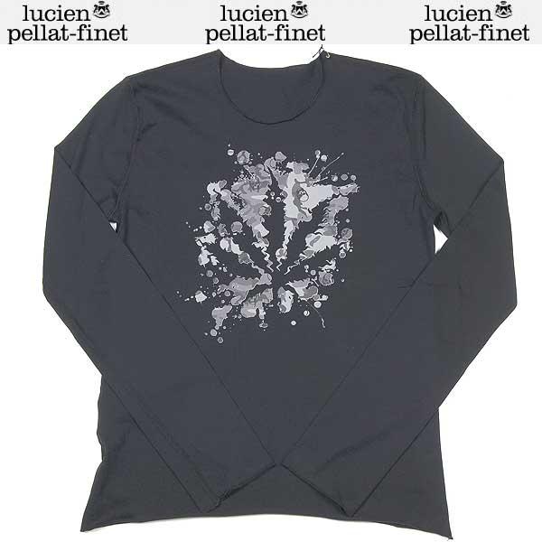 ルシアンペラフィネ lucien pellat-finet レディース カモフラージュ ヘンプ リーフ ロング Tシャツ ブラック EVF1301 13S (R61950)【送料無料】【smtb-TK】