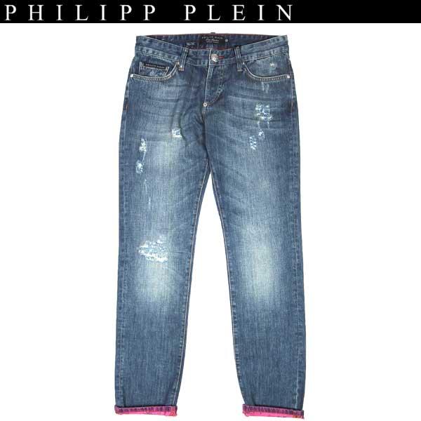 フィリッププレイン PHILIPP PLEIN メンズ クラッシュ ジーンズ デニム インディゴブルー SS13 HM5062 08AB 13S【送料無料】【smtb-TK】