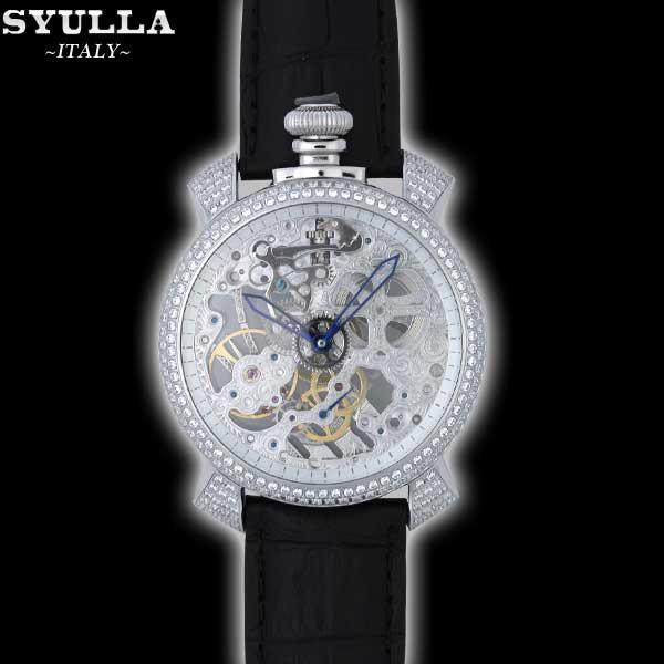 シュラ SYULLA メンズ 腕時計 スカルリミテッド 替えベルト付き バンド 全2色 ホワイト ブラック SYULLA-2 13S (R157500)【送料無料】【smtb-TK】
