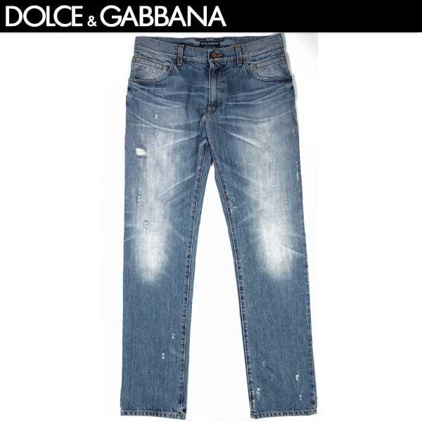 【送料無料】 ドルチェ&ガッバーナ(DOLCE&GABBANA) メンズ 16 CLASSIC クラッシュ加工デニム ジーンズ G31TCP G8L09 S9001 ウォッシュドブルー 13S【smtb-TK】