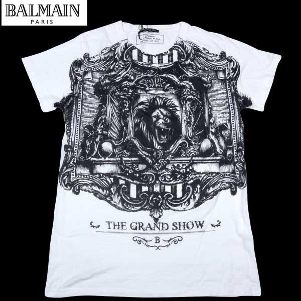 バルマン BALMAIN メンズ アーティスト プリント 半袖 Tシャツ S3HJ601 111 100 13S【送料無料】【smtb-TK】