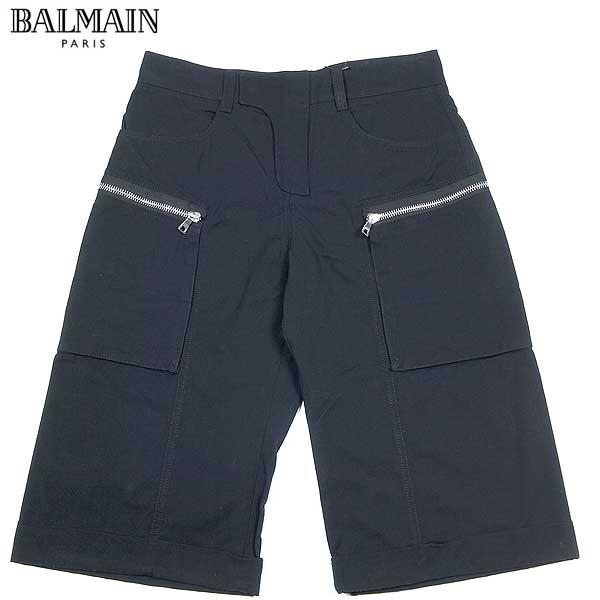 【送料無料】 バルマン(BALMAIN) メンズ バイカーライン カーゴショーツ ハーフパンツ ブラック T592 C115 176 13S