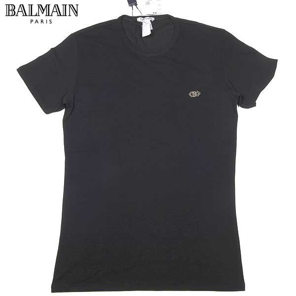 バルマン BALMAIN メンズ 半袖 Tシャツ ブラック T36 JM61 2000 13S (R10886) 【送料無料】【smtb-TK】
