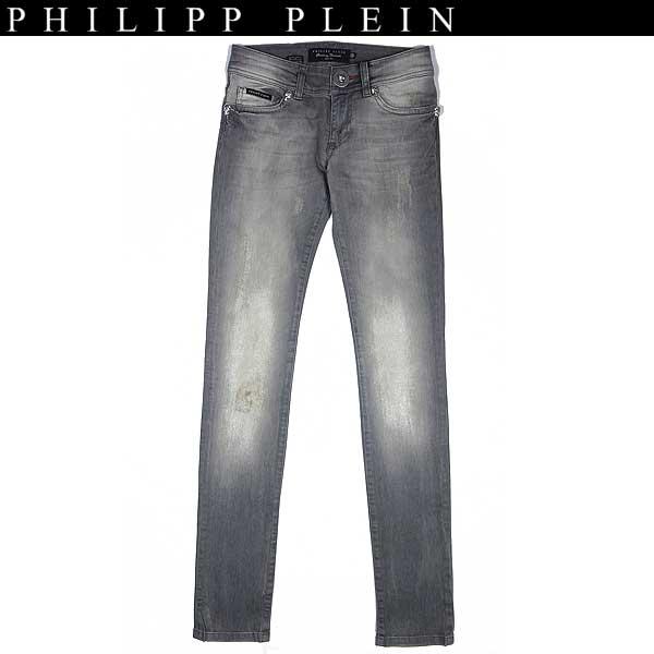【送料無料】 フィリッププレイン(PHILIPP PLEIN) レディース スカルモチーフ スリムジーンズ グレー WP13 CW560003 10RD 13A