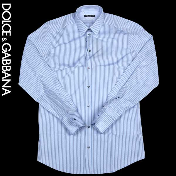ドルチェ&ガッバーナ DOLCE&GABBANA メンズ GOLDライン ワイシャツ ドレスシャツ ブルー G5BN6T FR5SJ S8051 13A (R43900)【送料無料】【smtb-TK】