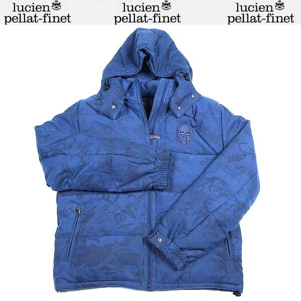 ルシアンペラフィネ lucien pellat-finet メンズ スカル ダウン ジャケット ブルー YMP 227H OLYMPIA 13A【送料無料】【smtb-TK】