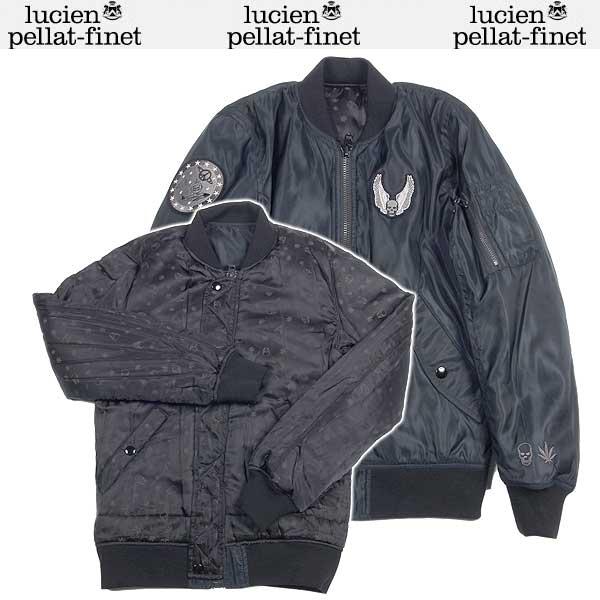 ルシアンペラフィネ lucien pellat-finet メンズ MA-1 スカル フライトジャケット リバーシブルブルゾン ブラック YMP 223H 13A【送料無料】【smtb-TK】