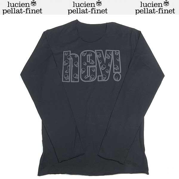 【送料無料】 ルシアンペラフィネ(lucien pellat-finet) メンズ スカル 長袖カットソー ロングTシャツ ブラック/グレー EVH 1293 13A
