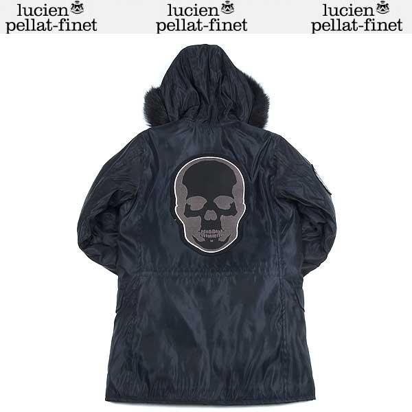 ルシアンペラフィネ lucien pellat-finet レディース スカル ウール ファー コート ブラック YMP224F 13A (R210000)【送料無料】【smtb-TK】