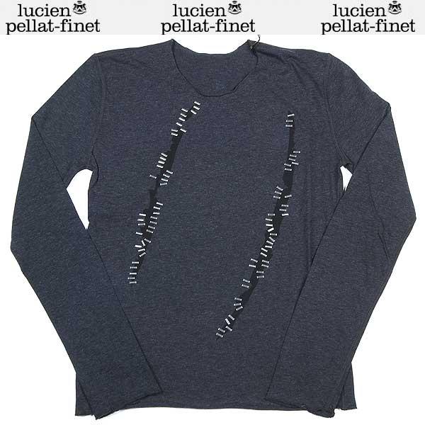 ルシアンペラフィネ lucien pellat-finet レディース Tシャツ ロンT 長袖 カットソー スカル グレー EVF1397 13A (R99800)【送料無料】【smtb-TK】